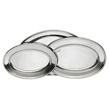 Stainless Steel Serving Platter Set, 3-Pack, (Assorted Sizes)