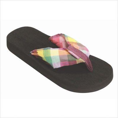 Tidewater Women's Flip Flop Sandals (7, Pink Crab Seersucker)