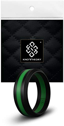 Knot Theory Striped Silicone Rings for Men Women â€