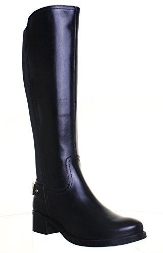 Justin Boots Knee Womens Reece High Black Leather Camille Riding rvqrwxap