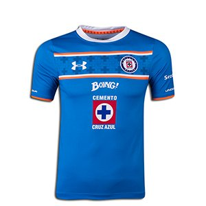 Under Armour Youth Soccer Cruz Azul Home Jersey (Large)