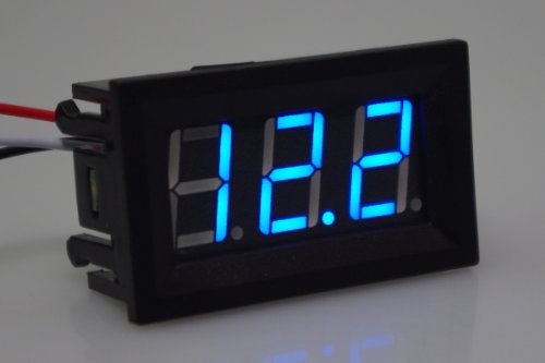 SMAKN 3 Digits 0.56 3 Wire Dc 0-100v Blue Led Digital Voltmeter Voltage Display Module with Reverse Protection
