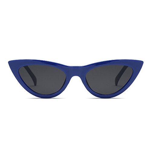 Eyewear Plastic Azul Retro Oscuro Vintage Eye Cat Frame Yefree sunglasse Goggles Pequeñas Mujeres wq0xzB