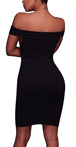 Cfanny - Vestido - Noche - Sin mangas - para mujer negro