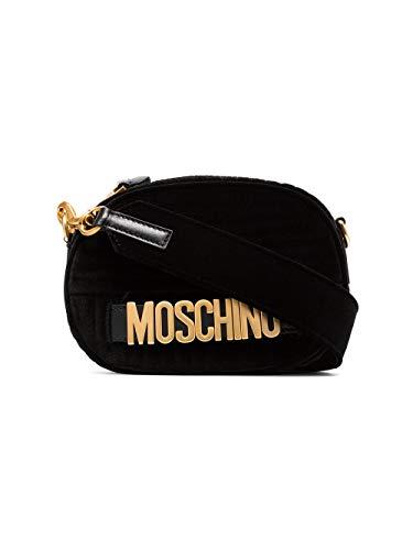 Negro A747982111555 Mujer De Bolso Terciopelo Moschino Hombro wEqdSPnnx5