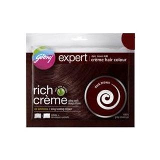 Godrej Expert rich Creme Hair Colour Dark Brown (Pack of 5)