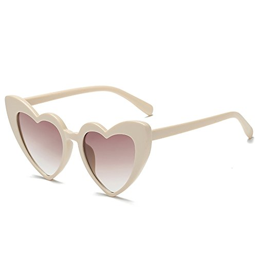 Love Heart Shaped Sunglasses Women Vintage Cat Eye Mod Style Retro - Sunglasses Mom