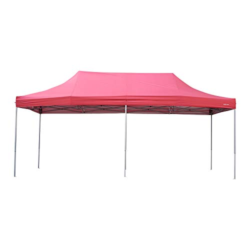 Outdoor Basic 10x20 Ft Pop Up Canopy Wedding Party Tent Patio Gazebo Shelter Red