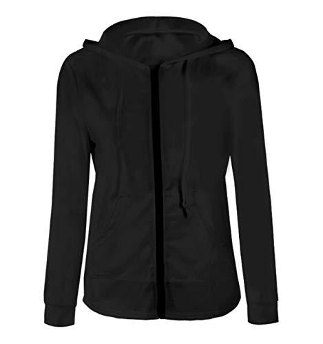 Outerwear Casual Donne Manica Coat Simple Lunga Autunno Top Jacket Hoodie Maglione Basic Sottile Cime Giacca Moda Fashion con Primavera Felpa Cappuccio Cappotto Sweatshirt Giacche aTaA70q