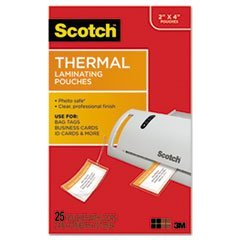 Scotch TP585325 Luggage Tag Size Thermal Laminating Pouches, 5 mil, 4 1/5...