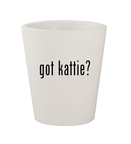 got kattie? - Ceramic White 1.5oz Shot Glass