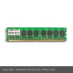 DMS Compatible/Replacement for Dell A0763330 PowerEdge 840 512MB DMS Certified Memory DDR2-667 (PC2-5300) 64x72 CL5 1.8v 240 Pin ECC DIMM Single Rank - DMS