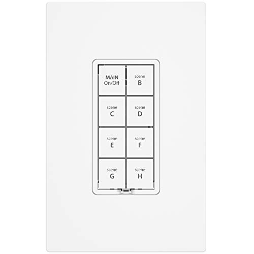 Insteon 2334-235 Keypad Dimmer with 6 Buttons,/Light Almond