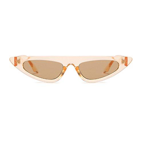 vintage de Estilo estilo de Gafas de diseñador de pequeño estilo sol Marrón de Gafas moda gato de de marco de Huicai de ojo sol xvq7wanO
