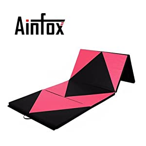 5A Parts Foldable Gymnastic Exercise Aerobics Yoga Martial Arts Mat PU with Handles and Zipper Indoor Outdoor Parkour