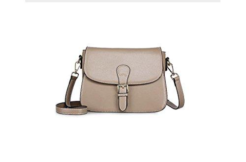 Los nuevos bolsos de cuero, la Sra paquete, remaches mensajero, bolso de hombro, cuero pequeño paquete cuadrado, bolsos Khaki