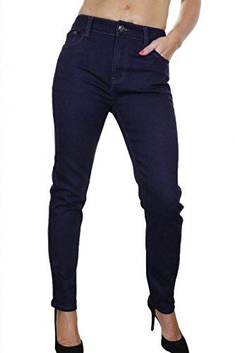 Jeans Azul 1454 Oscuro Stretch Grandes Denim Indigo Mujeres Tallas zww1qOST