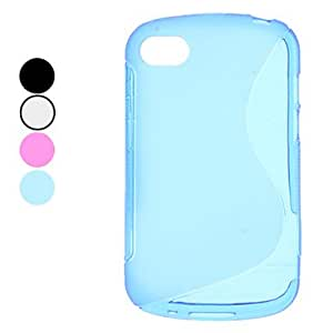 S-Shape Soft TPU Case for Blackberry Q10 (Assorted Colors) --- COLOR:White