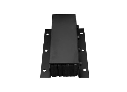 IRONguard T Series Steel Faced Rubber Dock Bumper, Rectangular, Laminated, Vertical Mount, 6 Holes, 20'' Length, 11'' Width, 6-3/4'' Depth by IRONguard