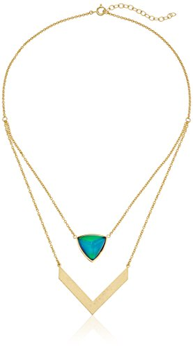 Changing Gold Plated Triangular Thermochromic Necklace product image