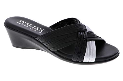 (ITALIAN Shoemakers Womens Saylor Wedge Sandal (8 M US, Black Multi))