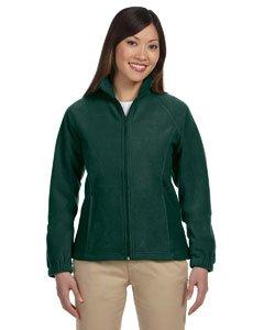 Harriton Ladies' 8 oz. Full-Zip Fleece XS Hunter