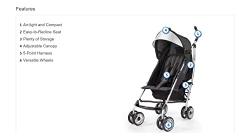 Large Product Image of Summer Infant 3D Lite Convenience Stroller - Black