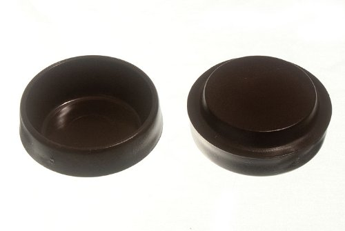 Lot Of 200 Castor Cups Furniture Floor Protector Glides Brown Plastic 44Mm