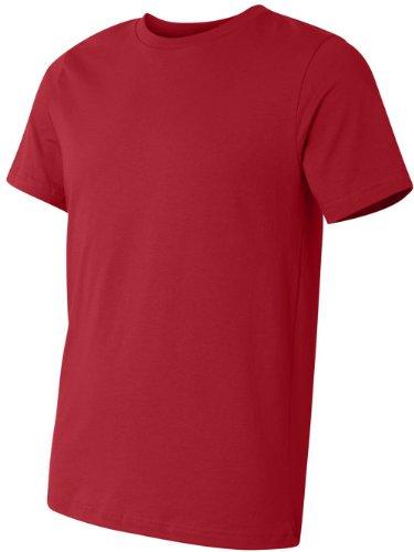 Bella + Canvas Unisex Kurze Ärmel hergestellt in den USA Crewneck T-Shirt–Athletic Heather XXL rot - rot
