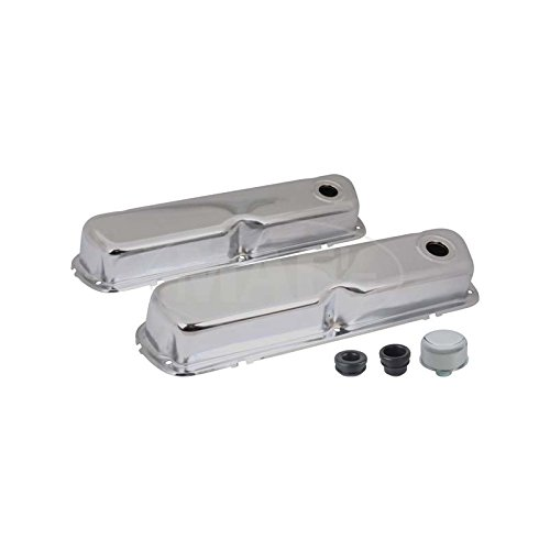 MACs Auto Parts 42-94153 Valve Covers, Chrome, 260, 289 & 302, V8, With Oil Cap Without Tube - Chrome Mustang Oil Cap