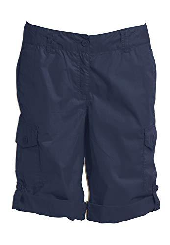 (Ellos Women's Plus Size Convertible Cargo Shorts - Navy, 18)