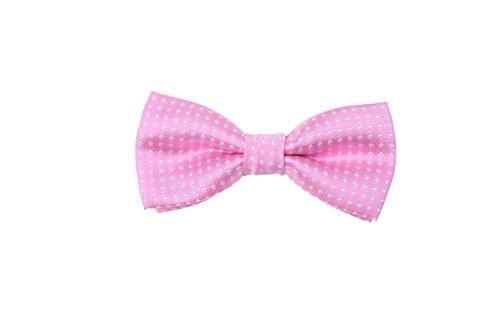 (Children Kids Boys Toddler Wedding Party Bow Tie Tuxedo Neckwear (Pink & white)