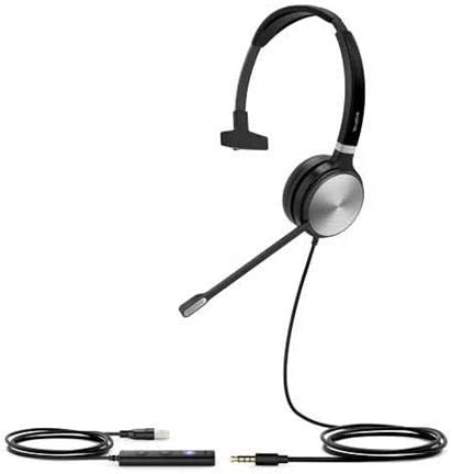 Yealink UH36-MONO UH36 Mono Wired USB Headset - USB 2.0 3.5mm Jack Certified for useMicrosoft Teams
