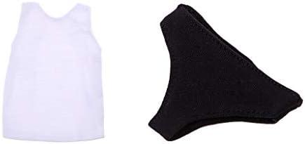 Amazon.es: Hellery Camisa de Chaleco sin Mangas para Hombre Calzoncillos Negros para Chico de Vestido Interior para Doll 12 Pulgadas: Juguetes y juegos