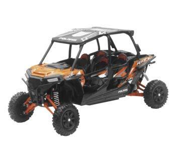 New Ray Toys 1:18 Scale UTV Die-Cast Replica Polaris RZR XP 4 Turbo EPS Spectra Orange 57843A