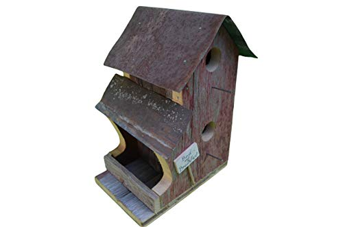 Birdhouse - Barnwood Decor - Bed and Breakfast Combo - 9x5.5x13 Amish Handcrafted in Ohio. The Birds Will Love This Lovely Bed and Breakfast Combination. You Can Feed and Then House the Birds in Your Backyard. Measures 13