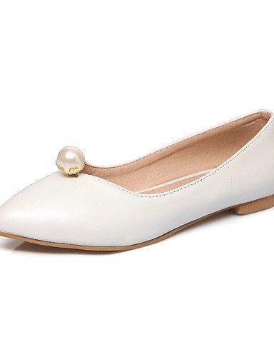 PDX/ Damenschuhe-Ballerinas-Büro / Kleid / Lässig-Kunstleder-Flacher Absatz-Spitzschuh-Schwarz / Rosa / Rot / Weiß , black-us9.5-10 / eu41 / uk7.5-8 / cn42 , black-us9.5-10 / eu41 / uk7.5-8 / cn42