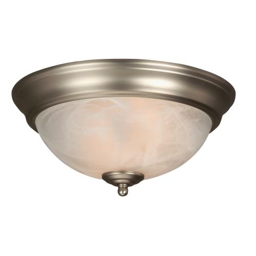 Craftmade Step (Craftmade X211-BN Bowl Flush Mount Light with Alabaster Swirl Glass Shades, Brushed Nickel Finish)