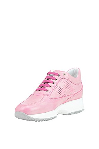 Hogan Damen MCGLCAK03027E Rosa Leder Sneakers