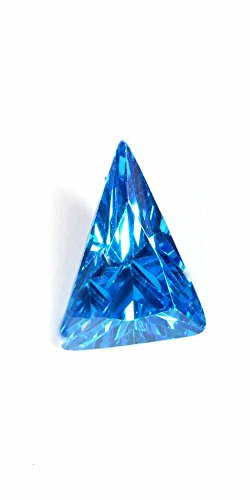 1.50Cts LAB CREATED BLUE TOPAZ TRILLION CUT LOOSE GEMSTONE CUBIC ZIRCONIA 7.00MM BUY1 GET1 FREE (Trillion Lab Cut)