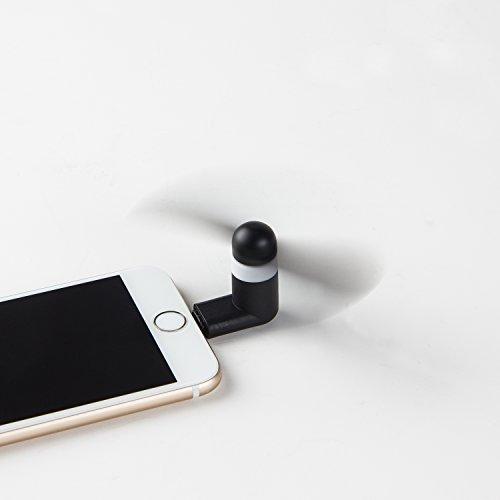MADHOLLY USB Phone Fan, Fashion Portable Mini USB Fan (iPhone Black 3 pack) Photo #2