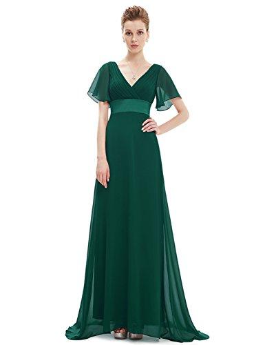 Ever-Pretty Floor Length Chiffon Formal Prom Dresses for Juniors 22 US Green Dress Floor Length Dress