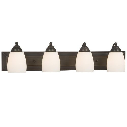Mediterranean Four Light Vanity (Galaxy Lighting 724134ORB 4 Light Barclay Bathroom Light)