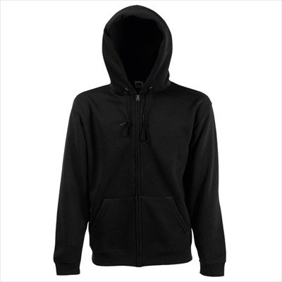 Fruit of the Loom - Kapuzen Sweat-Jacke 'Hooded Zip' M,Black