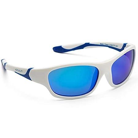 Koolsun Lunettes de soleil SPORT Enfant 3-6 ans   White   Blue + Blue revo  lentilles - Protection UV 100% - Optical Clas 1, Cat. ada67da54c08