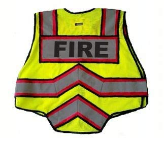 FIRE NINJA FIRE VEST-Class 2 Reflective - High Visibility Public Safety Vest - Bright Neon Reflective Colors - Double Breakaway Zipper - For Fire and Public Saftey Departments