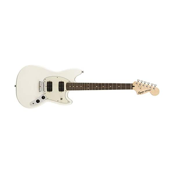 Squier FSR Bullet Mustang HH Electric Guitar – Olympic White