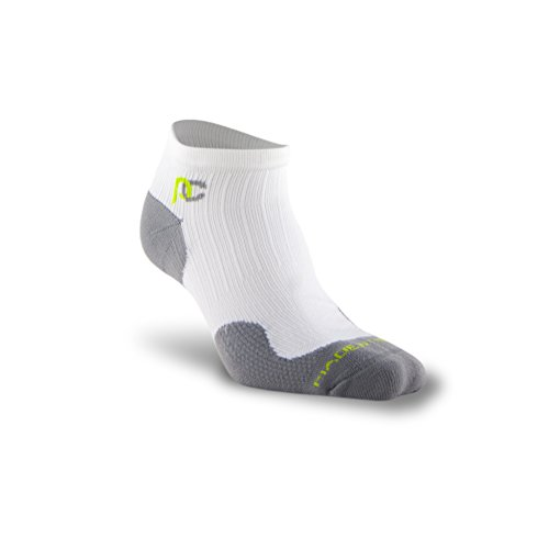 PRO Compression: Trainer (Low-Profile) Compression Socks, White, 2 Pairs, Large/X-Large