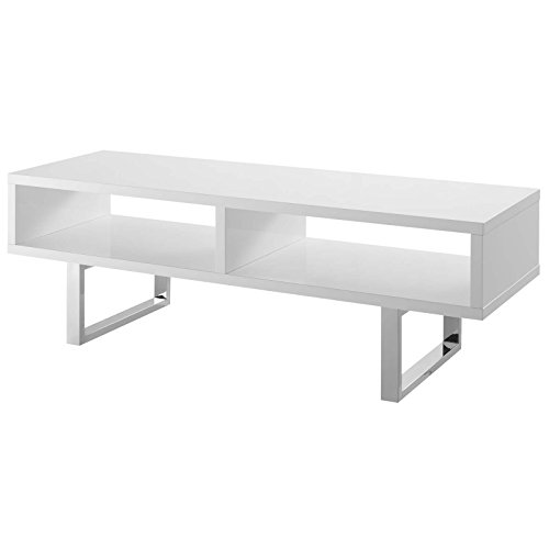 Modern Tv Stand Steel (Modway EEI-2680-WHI Amble Contemporary Low Profile 47 Inch TV Stand, White)