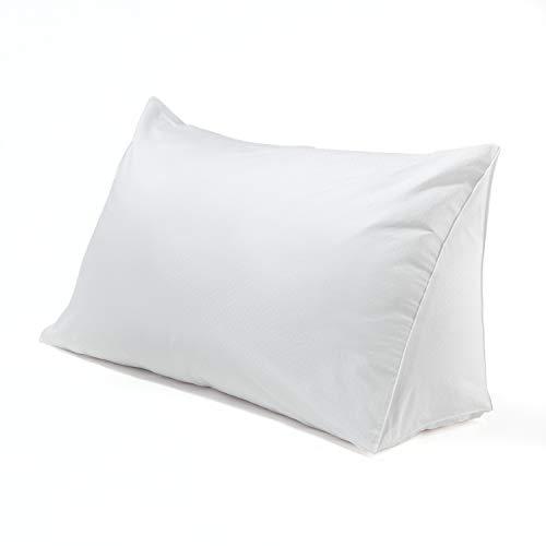 DOWNLITE Reading Wedge Pillow Cover - Dobby Dot Pattern ()